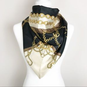 Cejon Black & Gold Chain Scarf